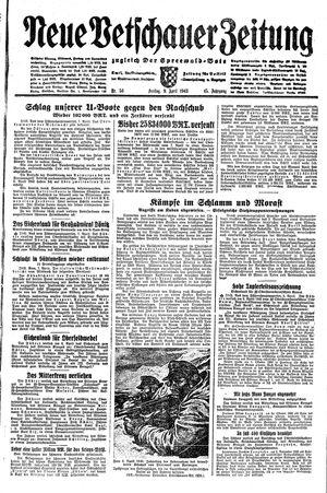 Neue Vetschauer Zeitung vom 09.04.1943