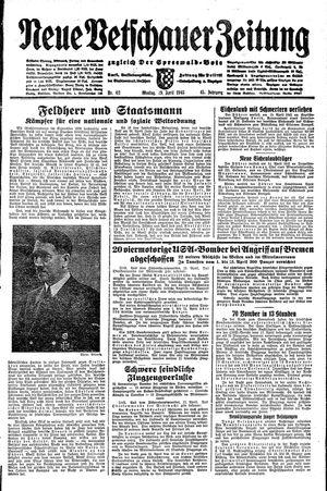 Neue Vetschauer Zeitung vom 19.04.1943