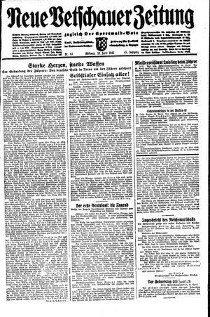 Neue Vetschauer Zeitung vom 21.04.1943