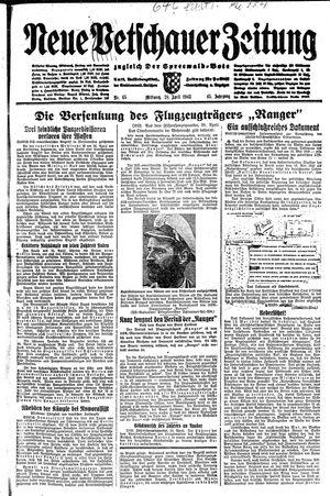 Neue Vetschauer Zeitung vom 28.04.1943