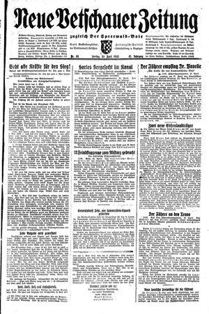 Neue Vetschauer Zeitung vom 30.04.1943
