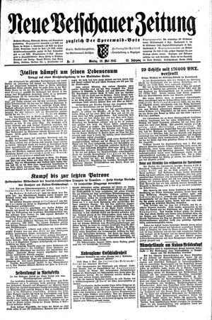Neue Vetschauer Zeitung vom 10.05.1943