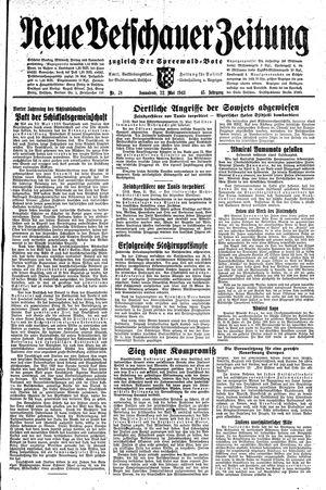 Neue Vetschauer Zeitung vom 22.05.1943