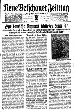 Neue Vetschauer Zeitung vom 07.06.1943
