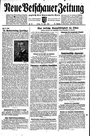 Neue Vetschauer Zeitung vom 18.06.1943