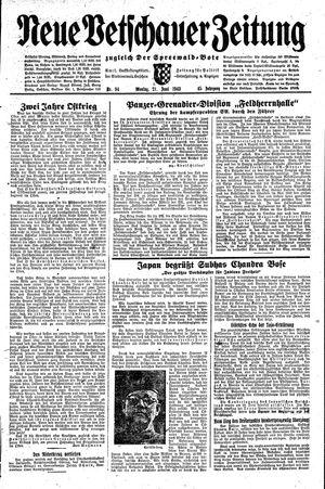 Neue Vetschauer Zeitung vom 21.06.1943