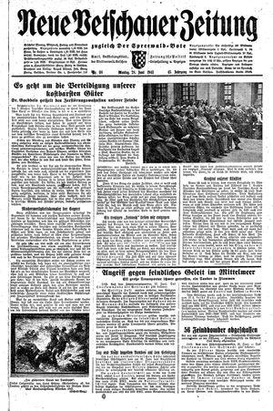 Neue Vetschauer Zeitung vom 28.06.1943