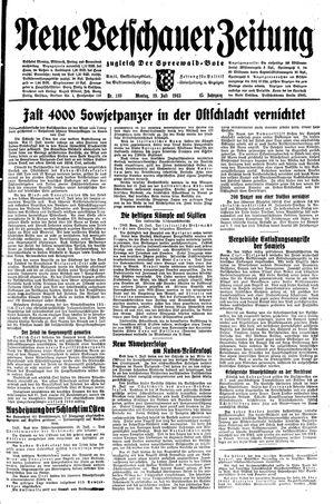 Neue Vetschauer Zeitung vom 19.07.1943