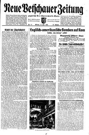 Neue Vetschauer Zeitung vom 21.07.1943