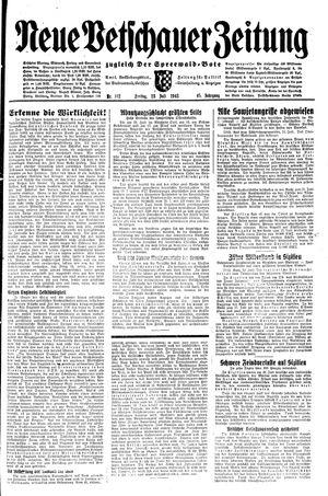 Neue Vetschauer Zeitung vom 23.07.1943