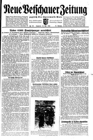 Neue Vetschauer Zeitung vom 24.07.1943