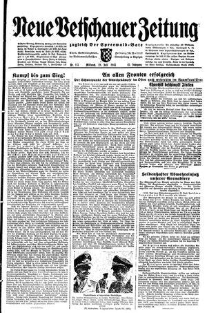 Neue Vetschauer Zeitung vom 28.07.1943