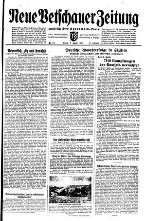 Neue Vetschauer Zeitung vom 02.08.1943