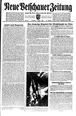 Neue Vetschauer Zeitung vom 07.08.1943