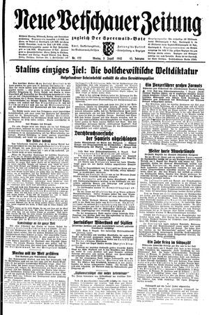 Neue Vetschauer Zeitung vom 09.08.1943