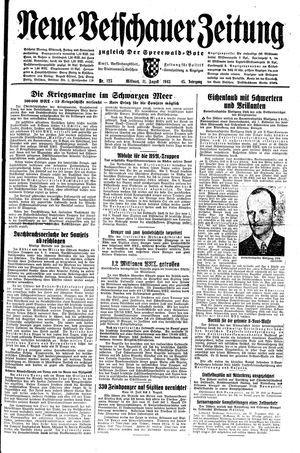 Neue Vetschauer Zeitung vom 11.08.1943