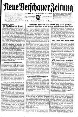 Neue Vetschauer Zeitung vom 21.08.1943