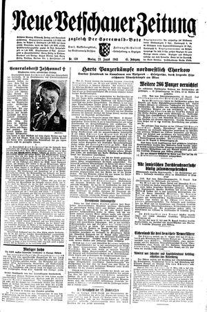 Neue Vetschauer Zeitung vom 23.08.1943