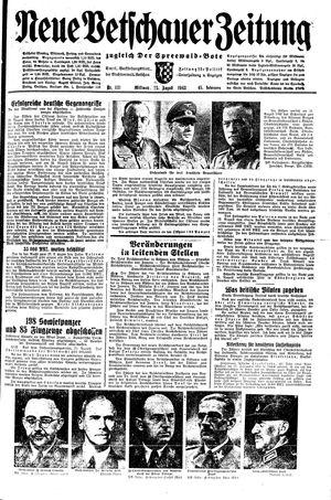 Neue Vetschauer Zeitung vom 25.08.1943
