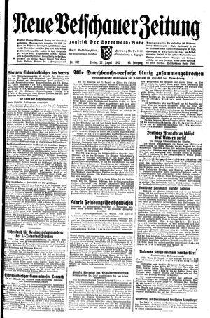 Neue Vetschauer Zeitung vom 27.08.1943
