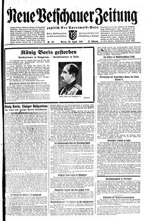 Neue Vetschauer Zeitung vom 30.08.1943
