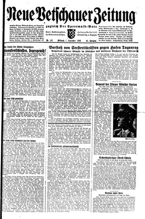 Neue Vetschauer Zeitung vom 01.09.1943