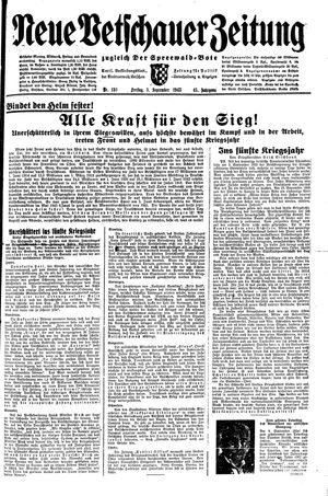 Neue Vetschauer Zeitung vom 03.09.1943