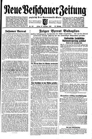 Neue Vetschauer Zeitung vom 10.09.1943