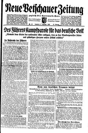 Neue Vetschauer Zeitung vom 11.09.1943