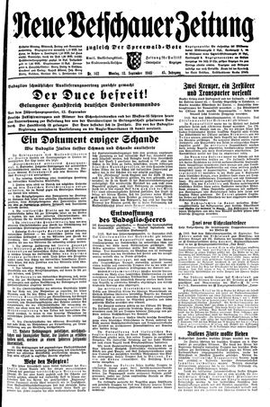 Neue Vetschauer Zeitung vom 13.09.1943