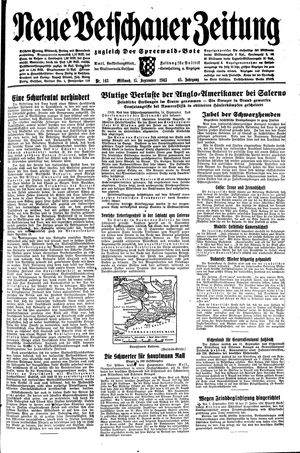 Neue Vetschauer Zeitung vom 15.09.1943