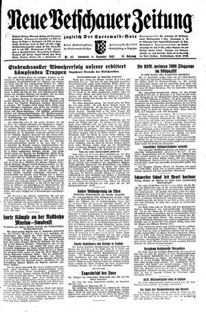 Neue Vetschauer Zeitung vom 18.09.1943