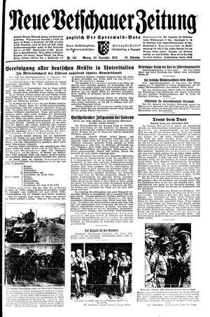 Neue Vetschauer Zeitung vom 20.09.1943