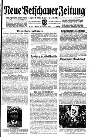 Neue Vetschauer Zeitung vom 22.09.1943