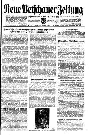 Neue Vetschauer Zeitung vom 24.09.1943
