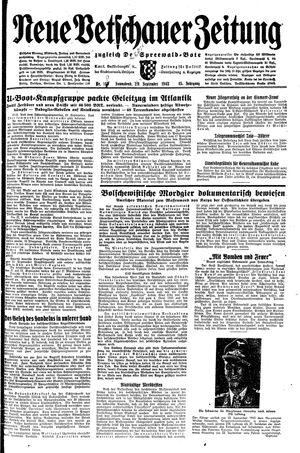 Neue Vetschauer Zeitung vom 25.09.1943