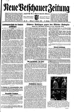 Neue Vetschauer Zeitung vom 27.09.1943