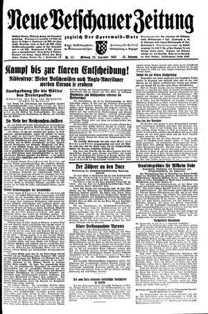 Neue Vetschauer Zeitung vom 29.09.1943