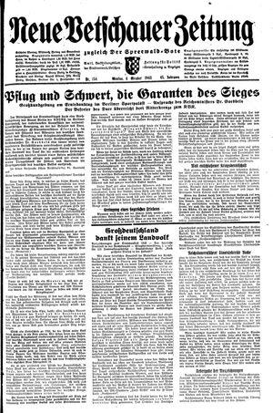 Neue Vetschauer Zeitung vom 04.10.1943
