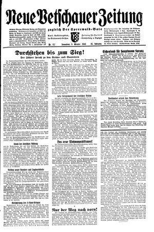 Neue Vetschauer Zeitung vom 09.10.1943