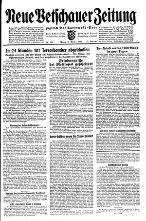 Neue Vetschauer Zeitung vom 11.10.1943