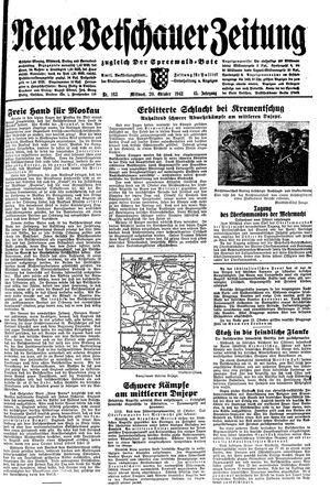 Neue Vetschauer Zeitung vom 20.10.1943
