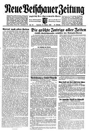 Neue Vetschauer Zeitung vom 23.10.1943