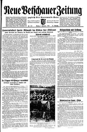 Neue Vetschauer Zeitung vom 01.11.1943