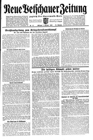 Neue Vetschauer Zeitung vom 03.11.1943
