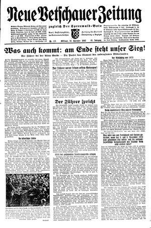 Neue Vetschauer Zeitung vom 10.11.1943