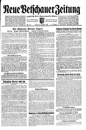 Neue Vetschauer Zeitung vom 12.11.1943