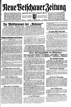 Neue Vetschauer Zeitung vom 13.11.1943