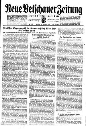Neue Vetschauer Zeitung vom 24.11.1943