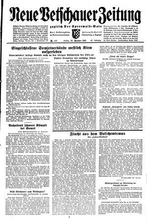 Neue Vetschauer Zeitung vom 26.11.1943